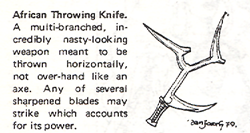 african throwing knife from Tunnels & Trolls 5th Edition 1980