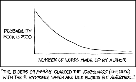 XKCD fiction rule of thumb