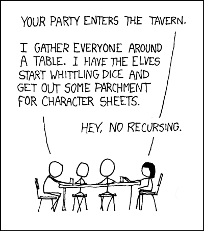 tabletop roleplaying XKCD Style