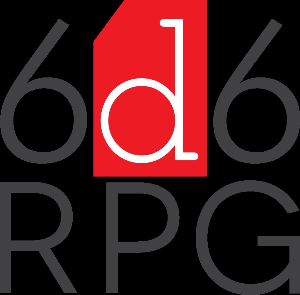 6d6 RPG Logo Transparent Background Very Large Print Resolution