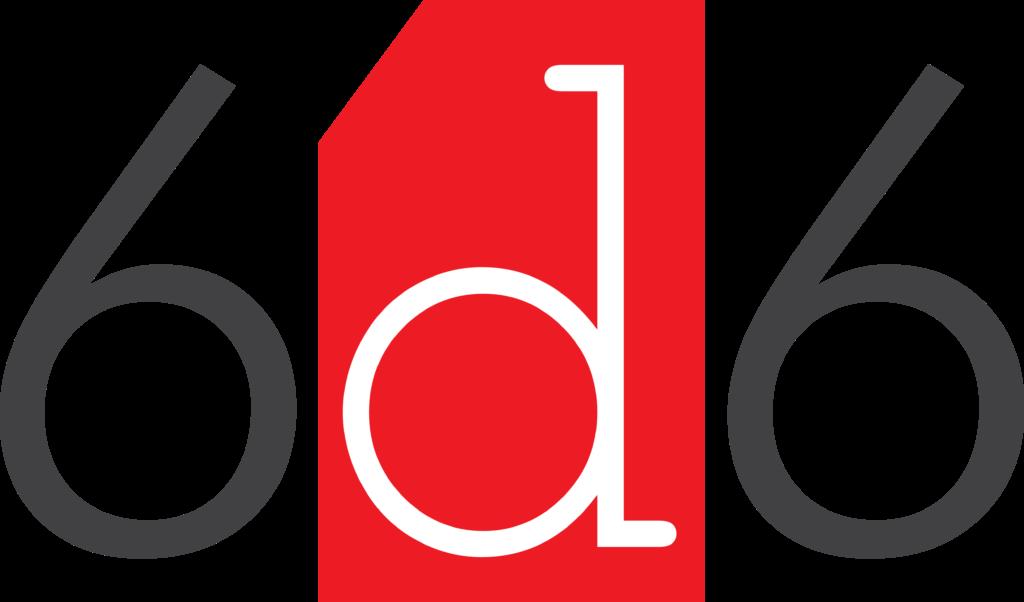 6d6 Logo Transparent Background 600dpi Print Ready 5059px