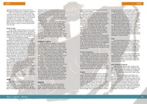 Page spread from the RPG Age of Legends