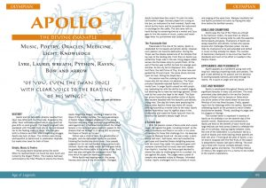 Apollo from the tabletop RPG Age of Legends