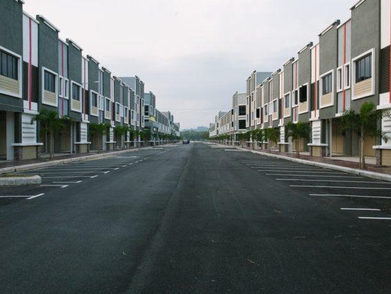 A city street.